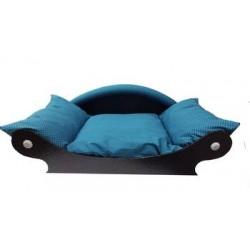 Canapé de style pour chien couchage vert foncé lavable a 40°
