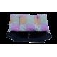 lit en forme de canapé pour chien avec coussin tissu patchwork