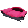 fauteuil -panier style canapé pour chien coussin rouge pas cher
