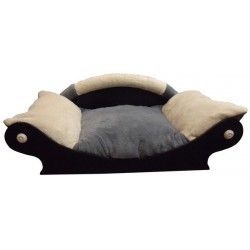 fauteuil en forme de panier pour chien ou chat coussin gris ecru gris