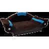 couchage chien-fauteuil chat - lit- corbeille-panier marron foncé turquoise