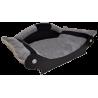 panier chien-fauteuil chat - lit- corbeille- couchage gris avec bandes noir