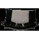 très jolie grand fauteuil design pour chien coussin noir et gris