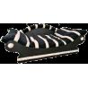 grand  fauteuil -canape de style pour chien - coussin doux noir et écru lavable a 40°