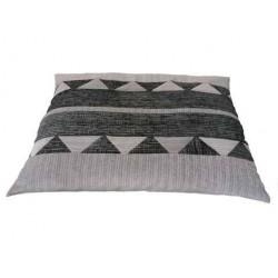 coussin déhoussable pour chien dimension 80cm x50 cm   gris clair et gris foncé