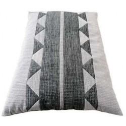 coussin déhoussable pour chien couchage en tissu  gris clair -gris foncé