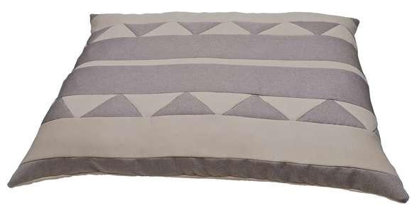 Coussin déhoussable pour chien - dimension 120cm x10 cm écru et gris clair