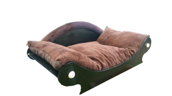 canape -lit-corbeille-panier pour chat-chien-chiots-chatons couchage marron