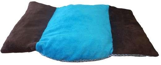 canape couchage pour chien corbeille panier coussin de rechange en fourrure marron foncé turquoise marron foncé de coté