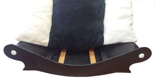 canape couchage pour chien corbeille panier coussin en fourrure amovible  écru noir écru avec chien