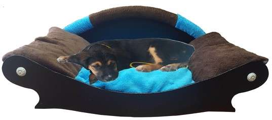canape couchage pour chien corbeille panier coussin en fourrure marron foncé turquoise marron foncé