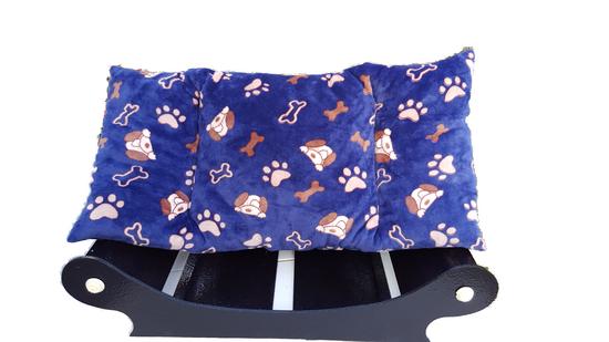canape d1 pour chien-chat couchage nonos bleu coussin- couchage amovible