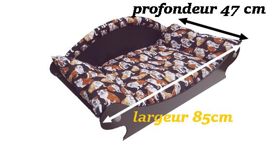 canape design -fauteuil-lit-panier pour bouledogue français