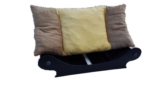 canape design-chien-fauteuil design-chat couchage-chien doudou marron clair paille marron clair coussin amovible0