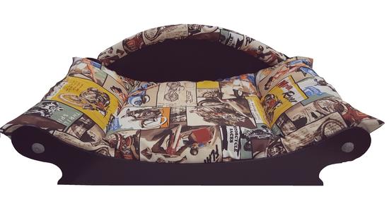 canape retro -fauteuil retro-couchage retro -corbeille retro pour chat -chien coussin en tissu coton retro