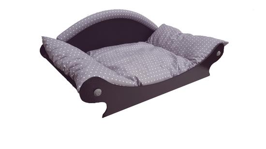 canape- fauteuil-sofa pour chien -chat coussin gris