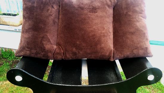 canape-fauteuil-corbeille-lit-panier pour chien-chat coussin  marron fonce couchage amovible