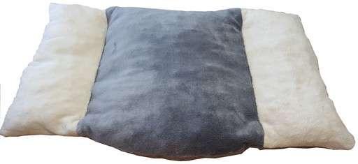 coussin  couchage   pour chien corbeille panier coussin en fourrure ecru grise ecru