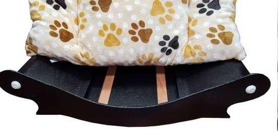 coussin amovible pour canape couchage pour chien panier tissu en fourrure douce imprimé pattes