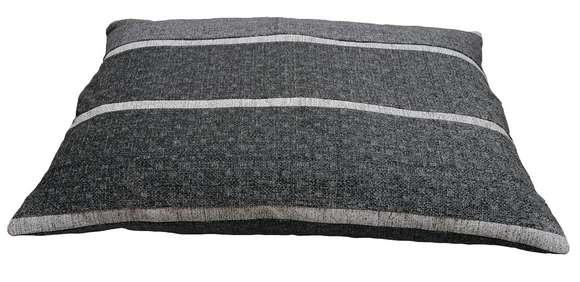 coussin déhoussable gris clair grise foncé chiné