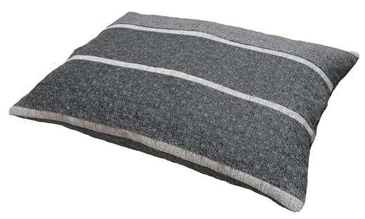 coussin dehoussable gris clair grise foncé chiné