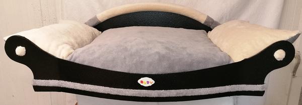 fauteuil pour chien un coussin gris et ecru