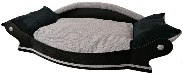 fauteuil royal 105 gris claire ameublement  et noir fourrure de cote