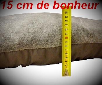 grand coussin gris pour chien-grand tapis gris pour chien-tres grand couchage gris  pour chien-grand coussin confortable 15 cm de bonheur dimensions 80cmx120cm